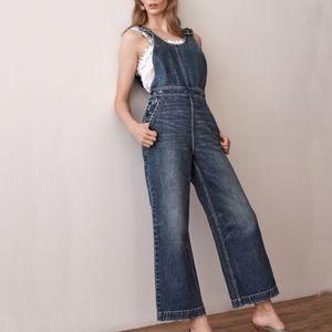 NWOT Rebecca Taylor La Vie Denim Jumpsuit Size XS